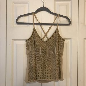 Sequined tank.
